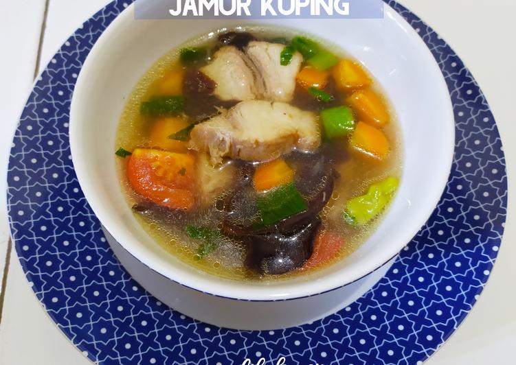 Sup Tuna Jamur Kuping - Clean Eating Version