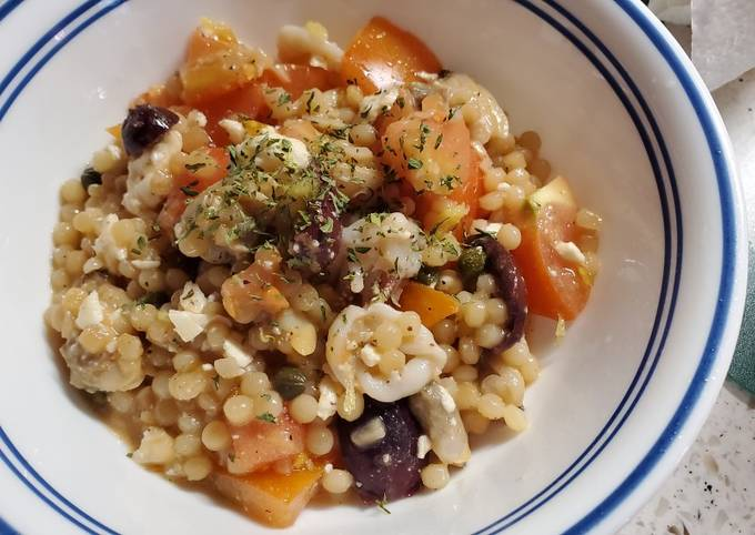 Mediterranean Couscous with Seafood Mix