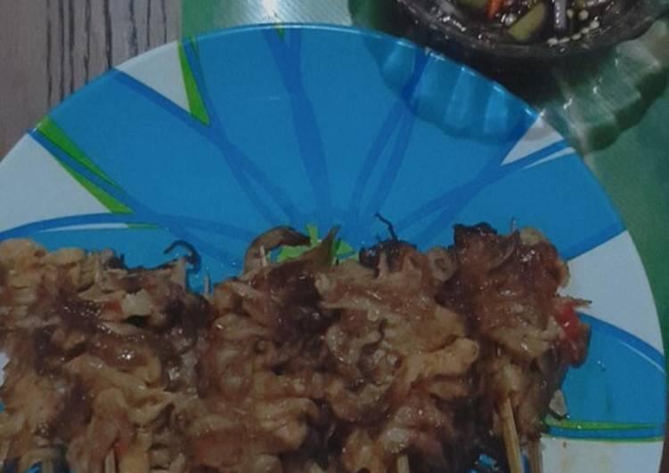 Sate jamur homemade ala jejamuran