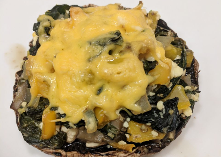 Step-by-Step Guide to Prepare Homemade Stuffed Spinach & Feta Mushrooms
