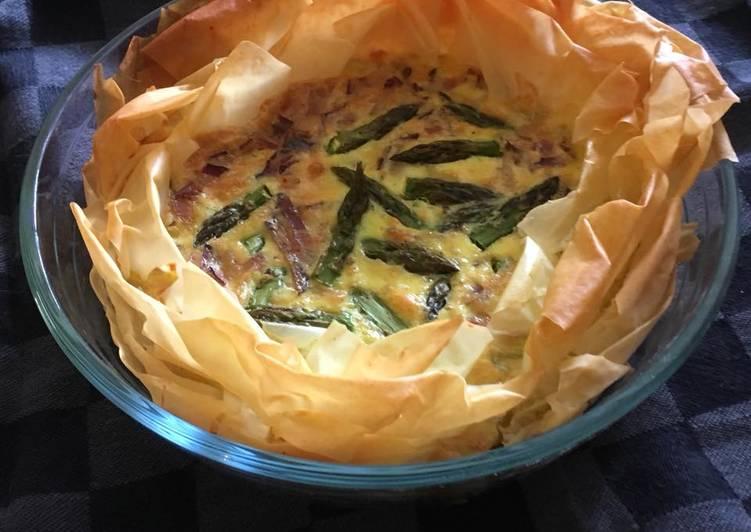 Tarte croustillante aux asperges vertes