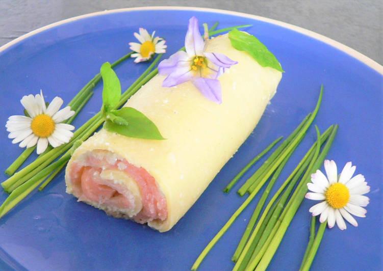 Recette Appétissante Cannelloni au saumon fumé et à la fourme d'Ambert