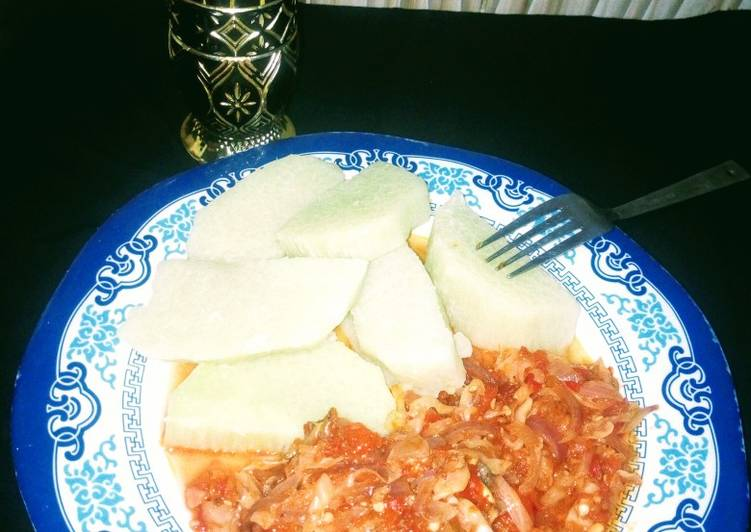 The Best Dinner Easy Speedy Boiled yam nd cabbage stew