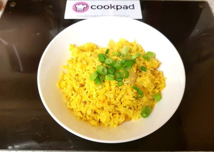 Recipe of Ultimate My Saffron & Egg Fried Rice. 😁