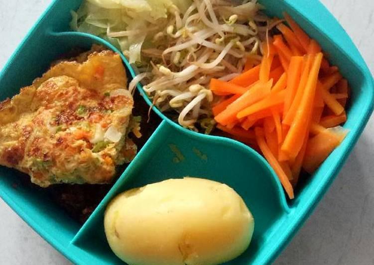 Bekal makan siang aneka sayur (diet)