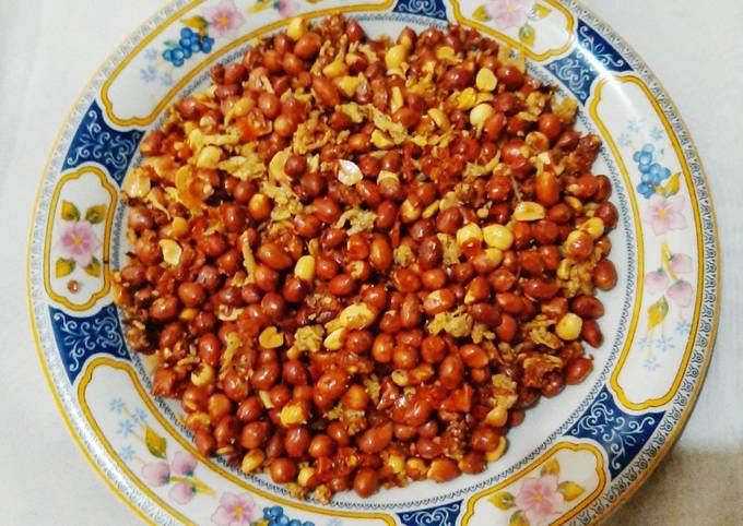Teri Kacang Sambal Balado Garing