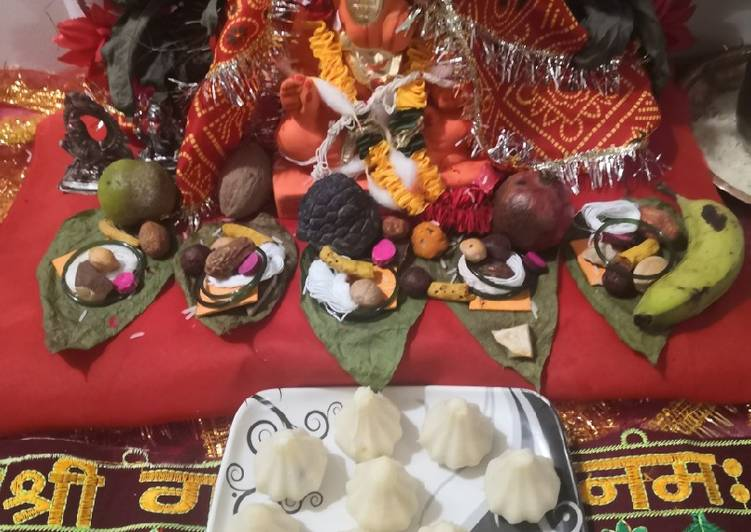 Try Using Food to Elevate Your Mood Stuffed gulkand and coconut jaggery rava modak