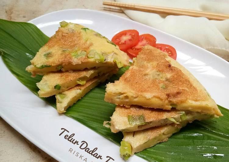 Resep Telur Dadar Tepung oleh Riska Dwi A - Cookpad