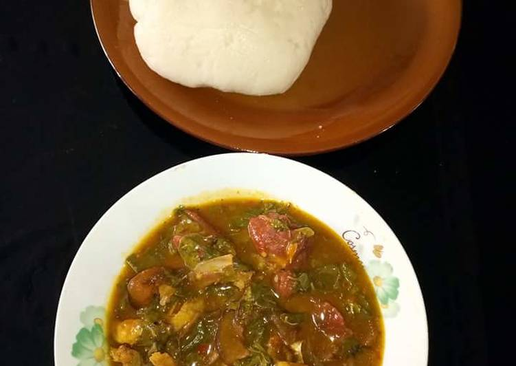 Recipe of Favorite Okoho and fruit soup