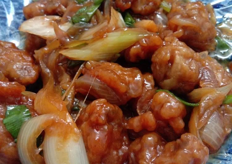 Jamur kancing crispy saus tiram