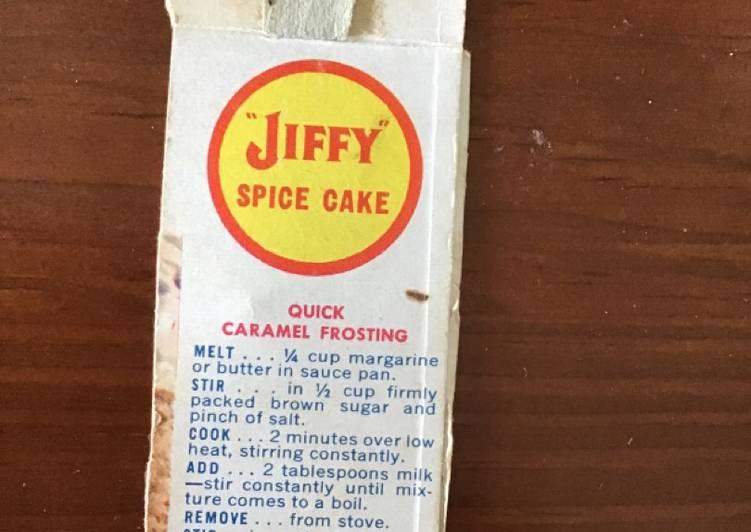 Quick caramel frosting