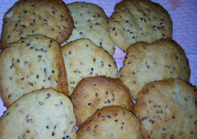 Grandmother's Dinner Easy Diet Perfect Honey and simsim cookies(no sugar)