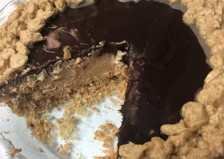 Peanut butter Chocolate no Bake Pie