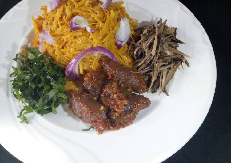 African Food Abacha (African salad)