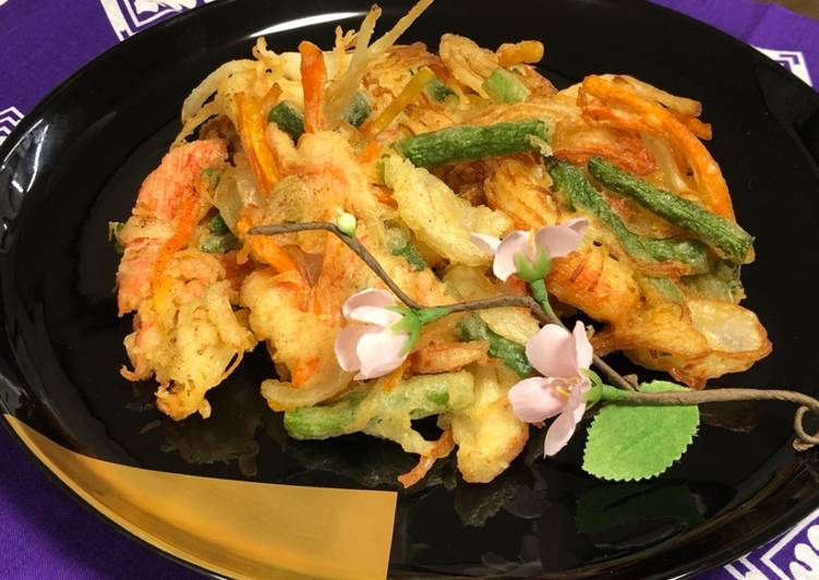 Crab Sticks and Vegetable Tempura