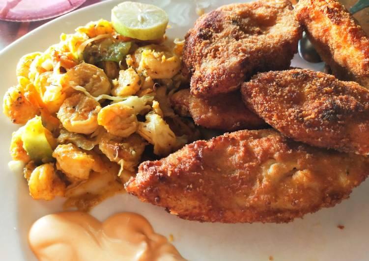 20 Minute Dinner Ideas Award Winning Crispy fried fish with stir fry prawns and dip