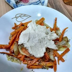 Zanahoria al horno con hummus