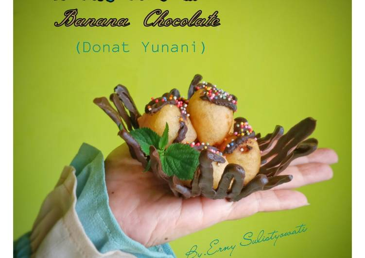 Loukoumades Banana Chocolate (Donat Yunani)