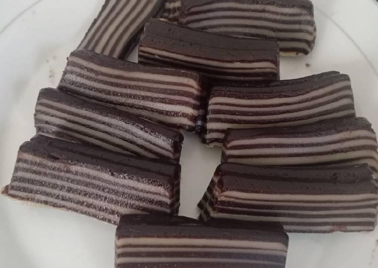 Kue Lapis Coklat Susu