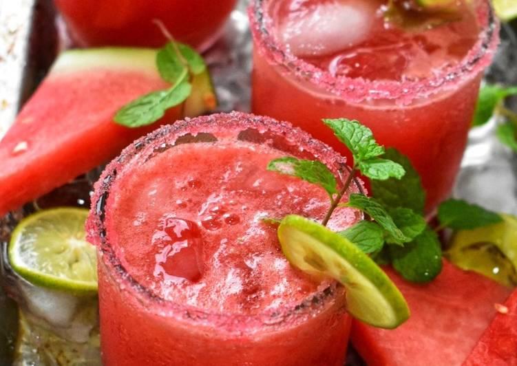 Watermelon Agua Fresca/Air Tembikai dengan Limau Nipis - resepipouler.com