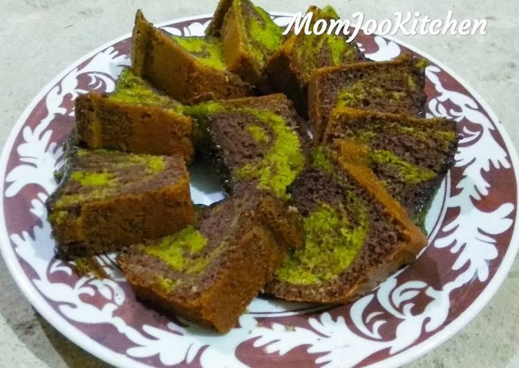 Marmer cake pandan coklat baking pan