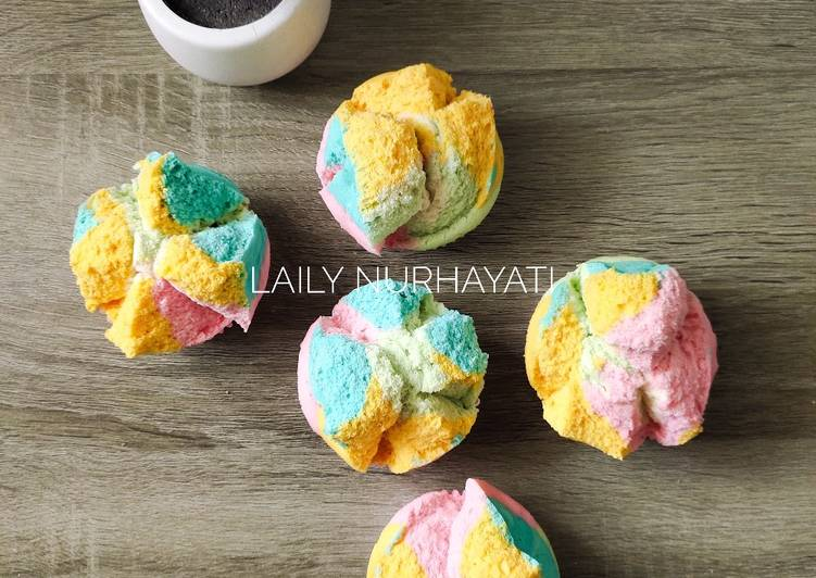 Bolu kukus rainbow mekar anti gagal week7