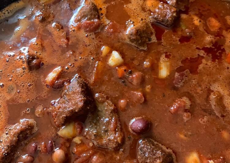 Smoked Rump Roast Chili