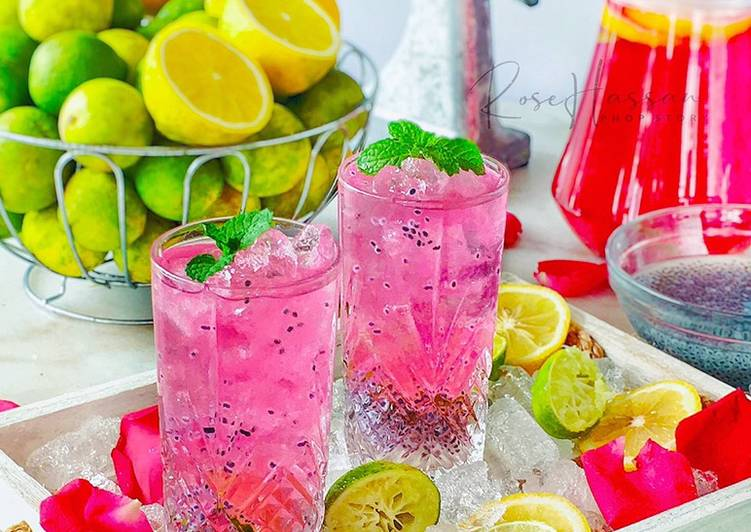 Lemonade mix lime rose syrap #minggu2 #air - resepipouler.com