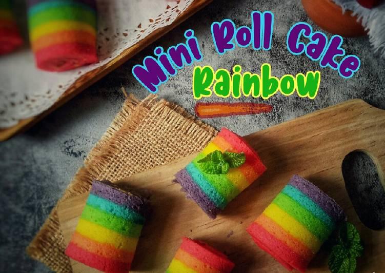 Mini Roll Cake Rainbow
