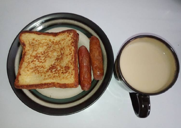 French toast with masala tea