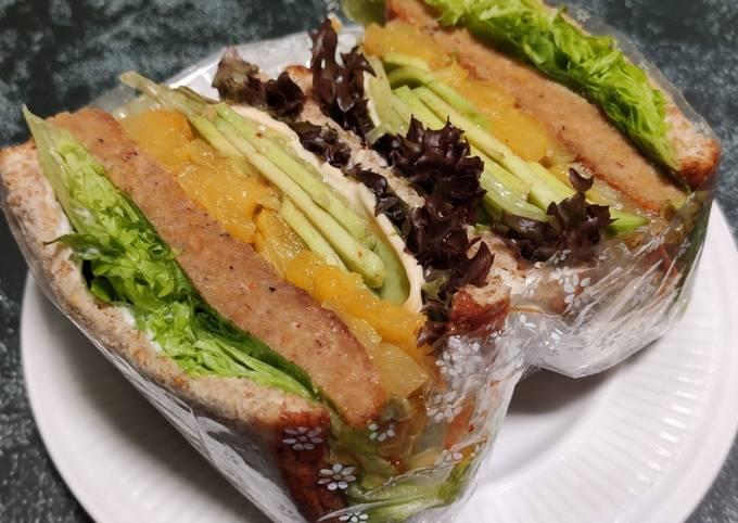 Wanpaku Sandwich Chicken Patty Homemade