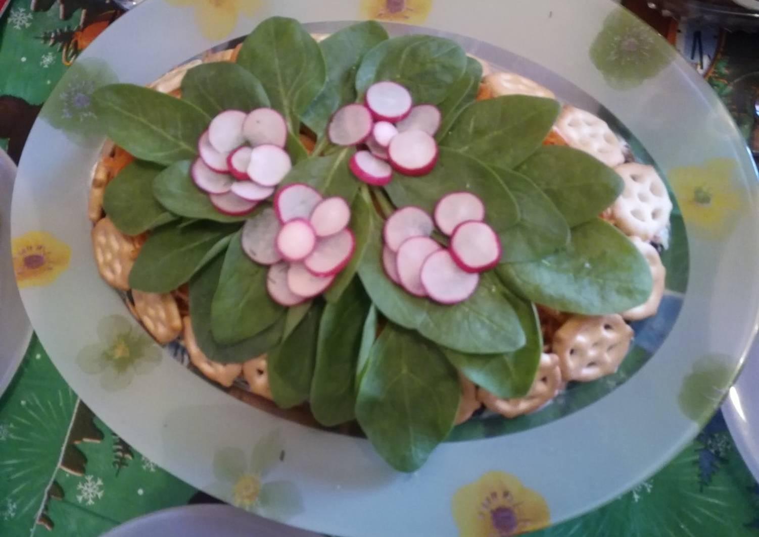 Салат фиалка пошаговый рецепт с фото