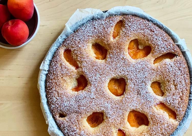 Gâteau amandine abricot