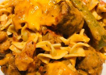 How to Prepare Perfect Creamy Baked Chicken Sausage Casserole