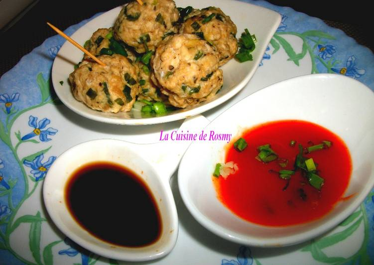 Comment Servir Boulettes de viande (poulet) à la Chinoise, cuit à la vapeur