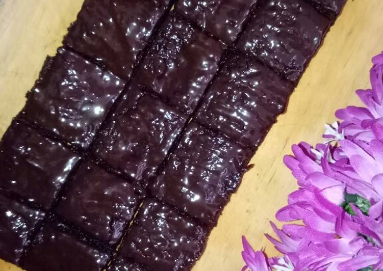 Brownies topping cokelat leleh