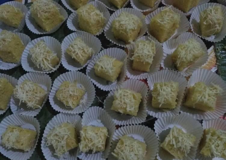 cara memasak Bolu Keju Kukus - Sajian Dapur Bunda