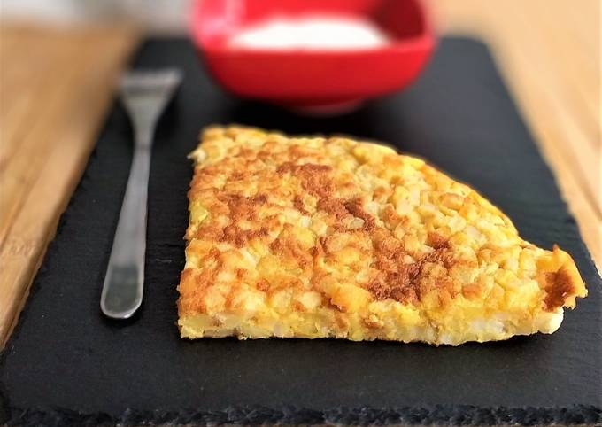 La tortilla de patata et son aïoli