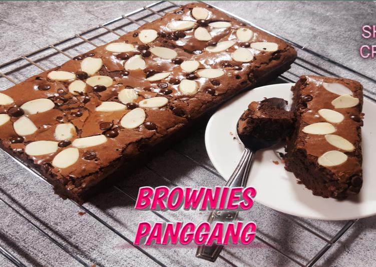 Brownies panggang|Tips membuat Shiny Crust Brownies