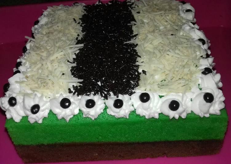 Brownis kukus Pandan coklat 👍