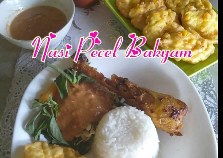 Nasi Pecel Bakyam (BakwanAyam)