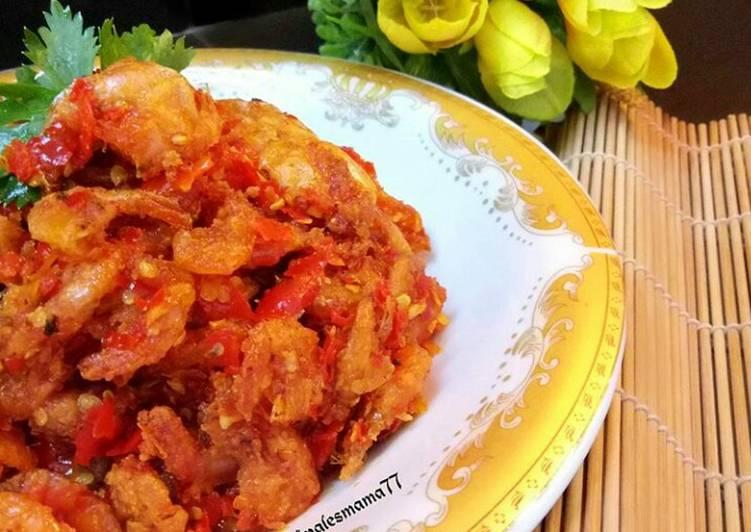 Resep Udang Kecil Balado Oleh Fifel Kitchen Cookpad