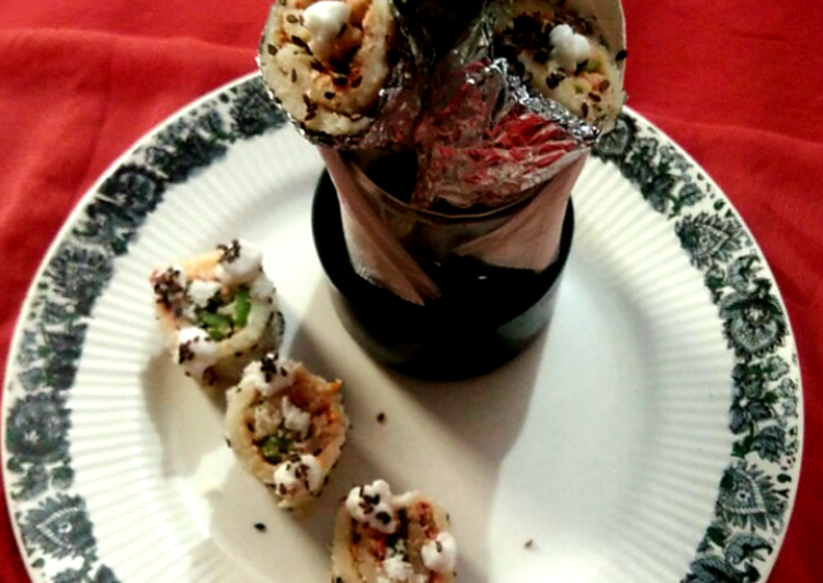 Steamed Dhokla Sushi