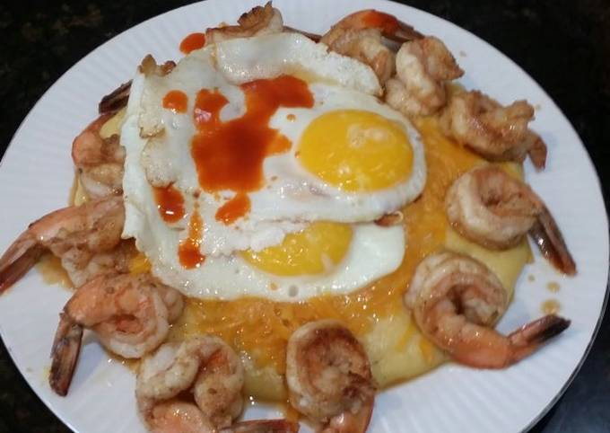 Easiest Way to Prepare Homemade Brad's shrimp and creamy polenta breakfast