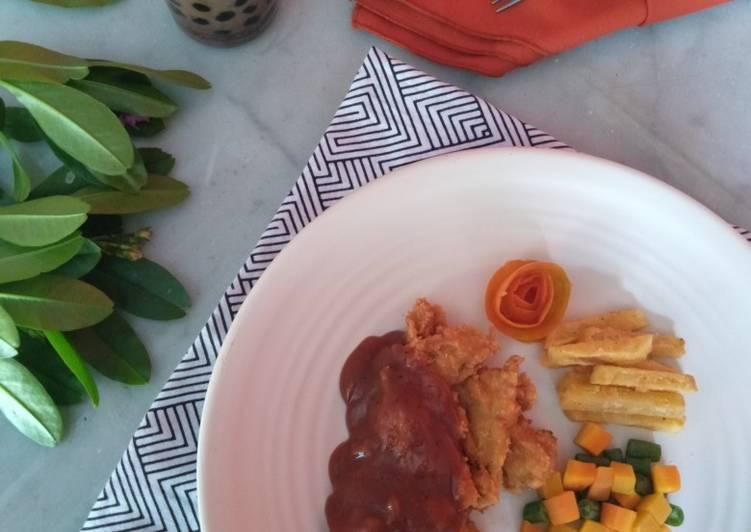 Steak Ayam dan Jamur