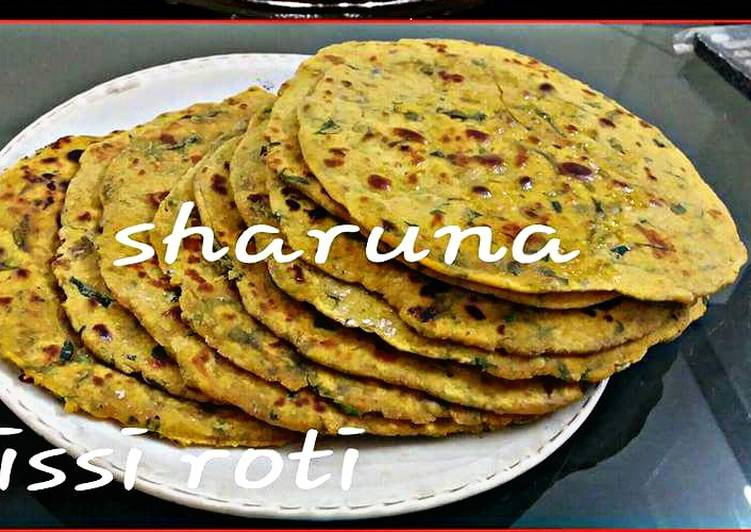 The Best Soft and Chewy Dinner Easy Vegan Missi Roti