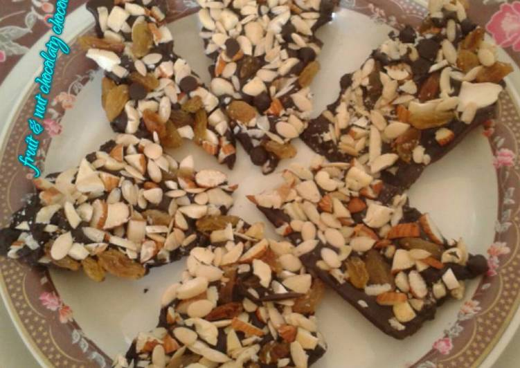 Simple Way to Make Award-winning Fruit & nut chocolaty chocolate chikki