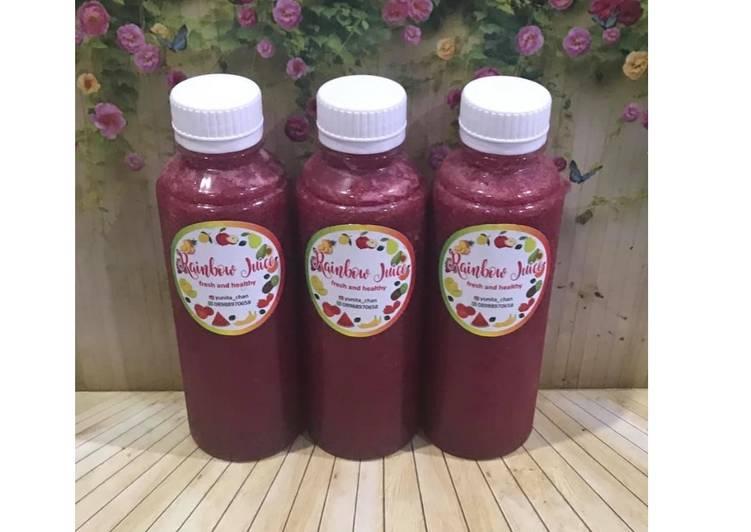 Diet Juice Banana Watermelon Beetroot Blackberry