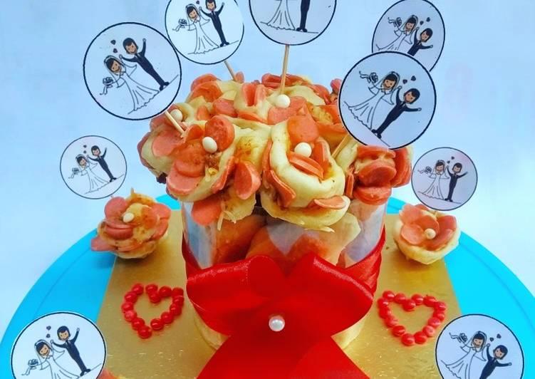 Resep Pizza Tart Tema Flower Rose Oleh Mamafano Cookpad