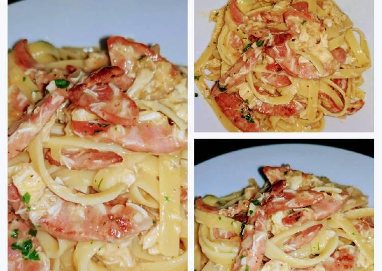 Chicken and Chorizo Carbonara